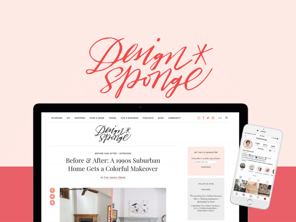 Design*Sponge website today