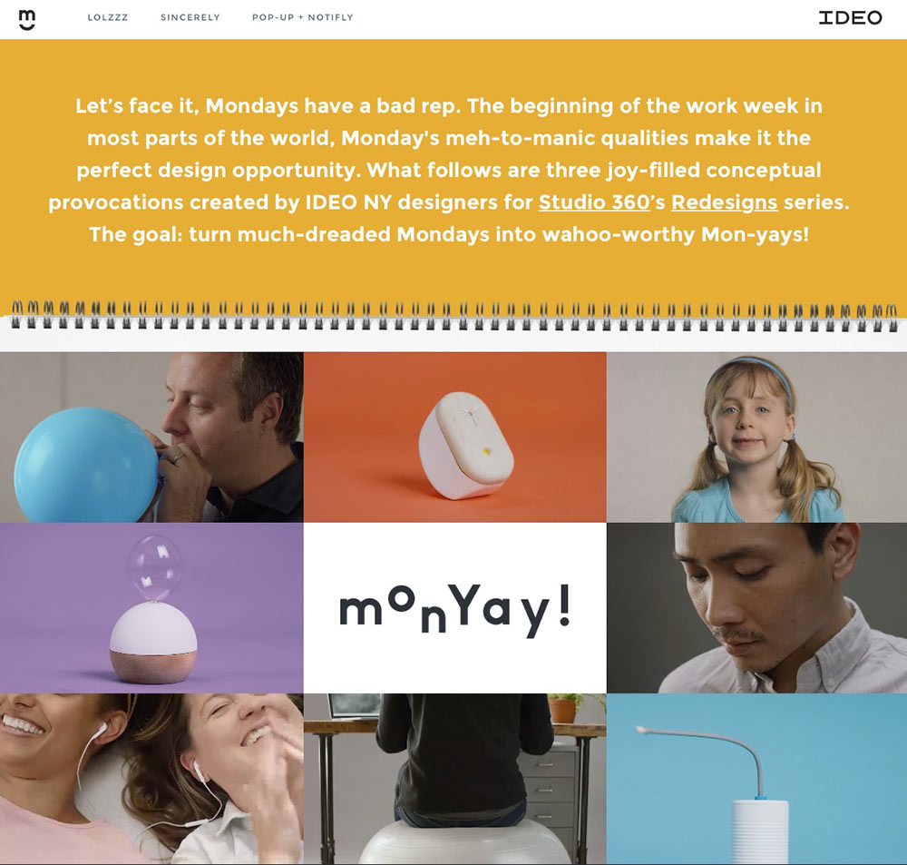 MonYay , a project Lee worked on with IDEO