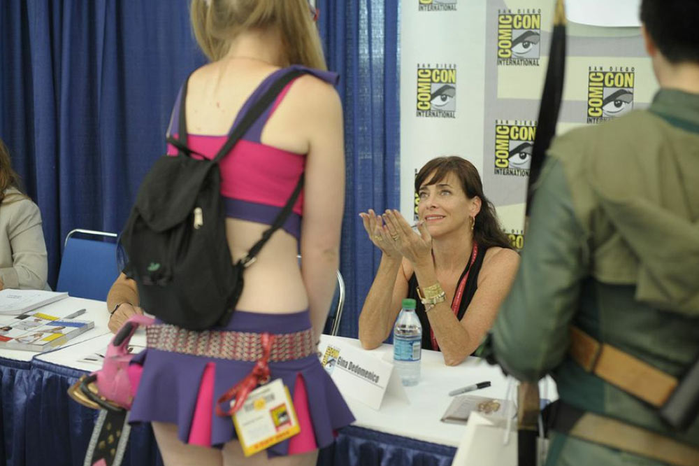"""""""I go to Comic-Con San Diego every year and sit on panels or work with Wacom and the Costume Designers Guild my fabulous Union. I was at Comic-Con with my brother when I was 12, I am so proud to be there today! The people there have so much spirit, if just some rubs off on me I am thrilled!"""""""