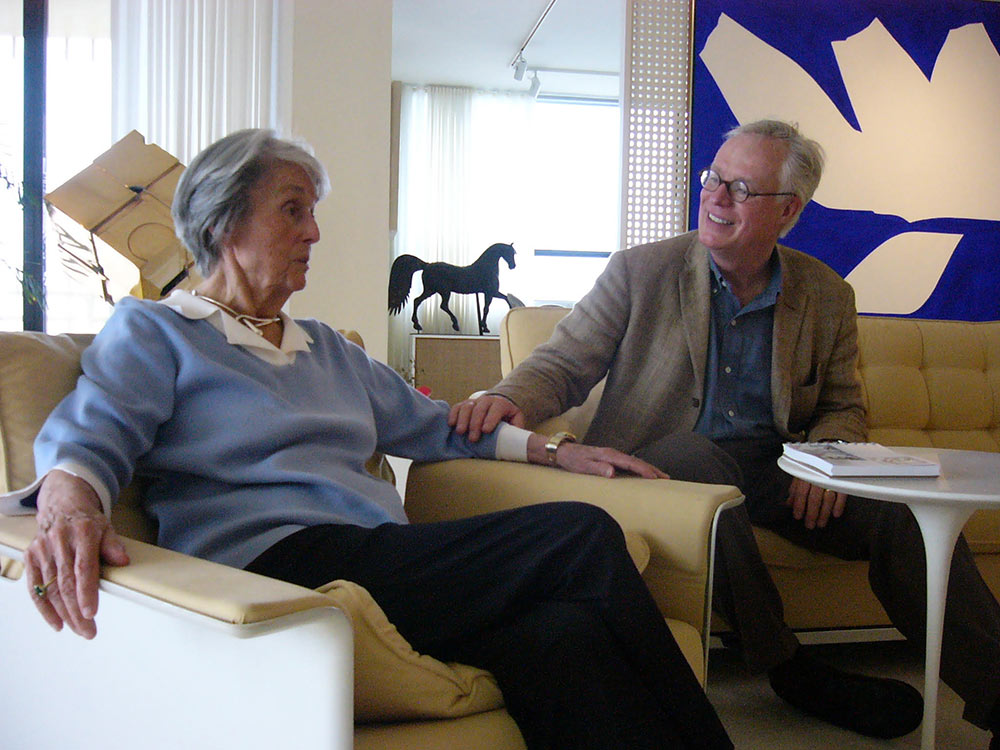 Magnusson with Florence Knoll in 2004