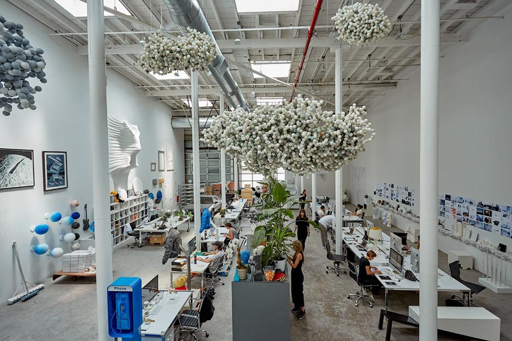 Office / Photo by Noah Kalina, via    Design Milk