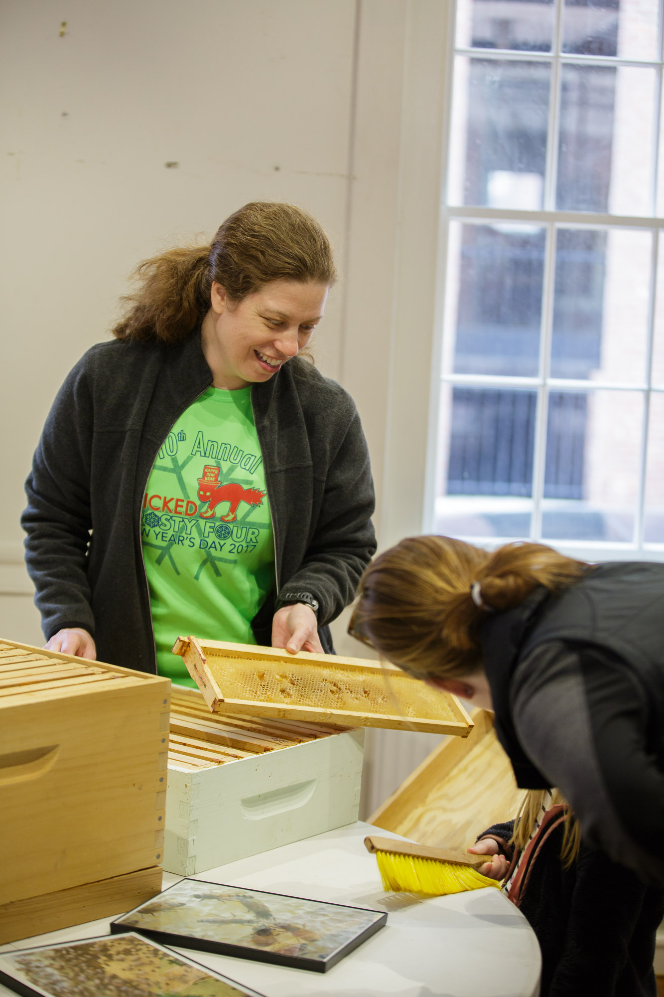 Beth Gerard teaches about beekeeping