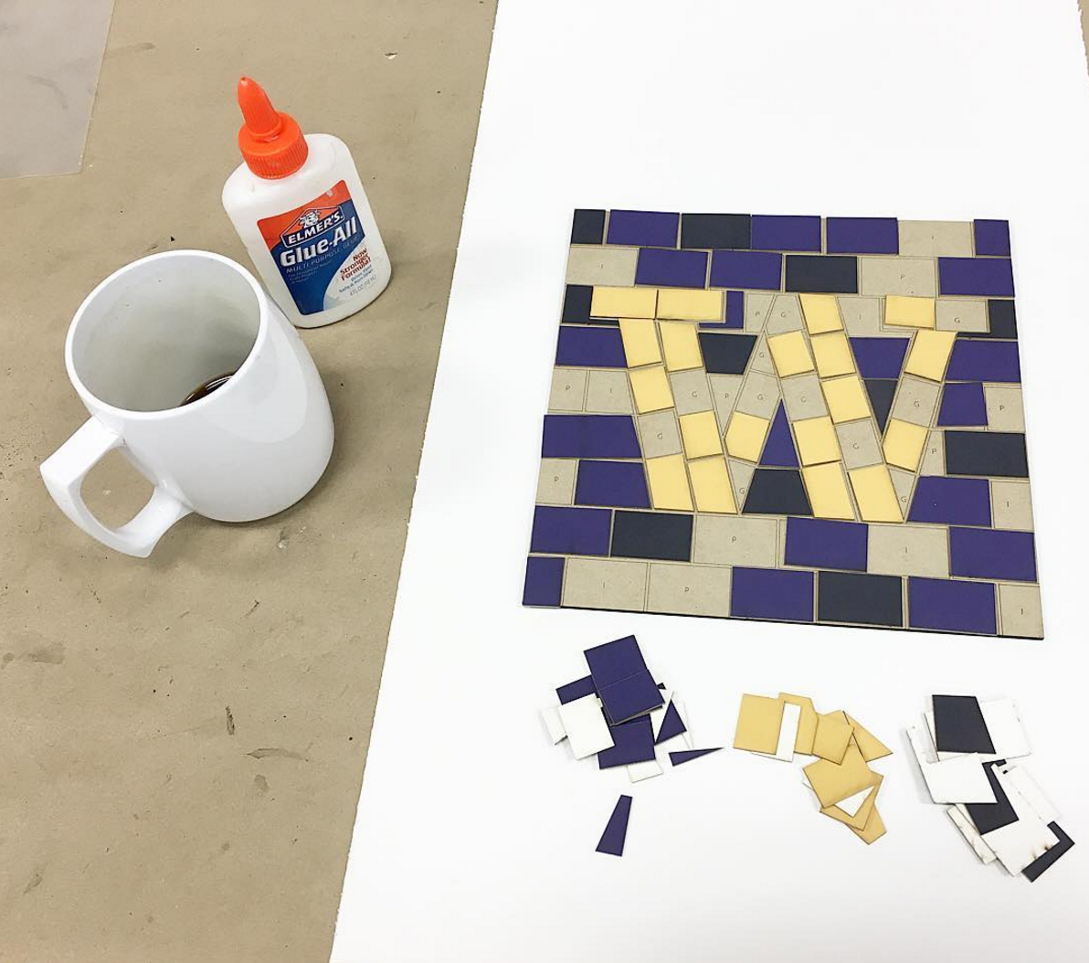 A prototype of a Tieton Mosaic activity for the event
