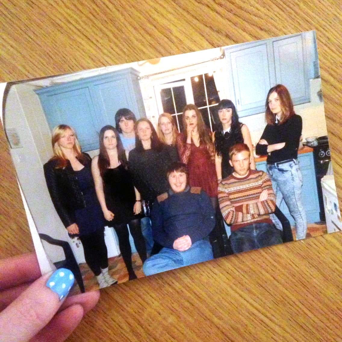 Old photo of a group get together Christmas 2014.