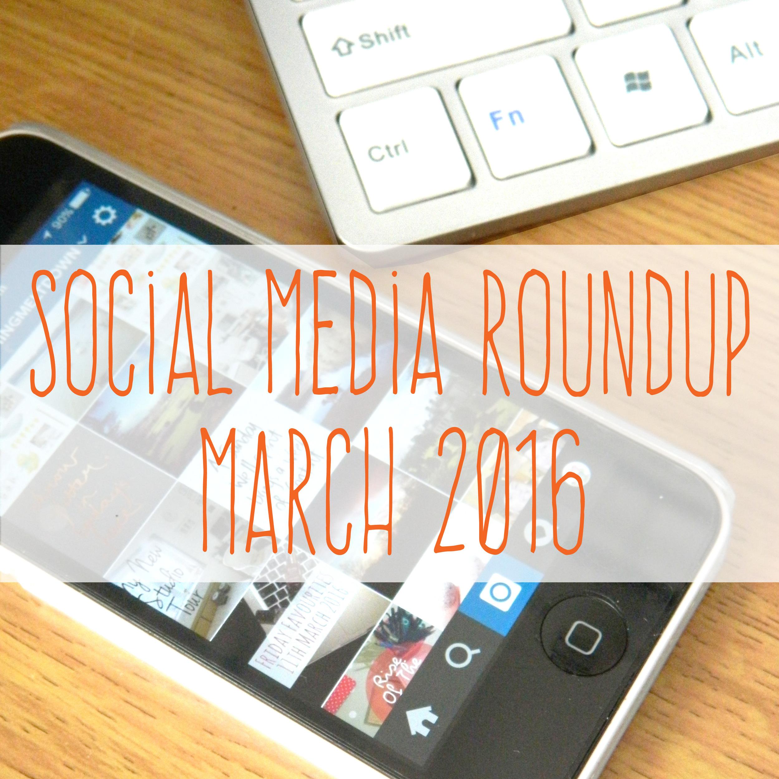 Social Media Roundup Promo March 2016