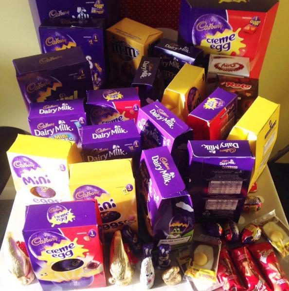 Easter egg haul.