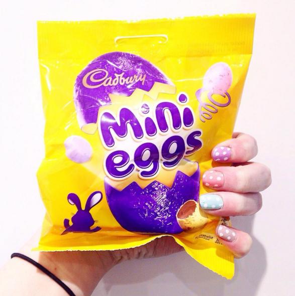 Mini Eggs packet.