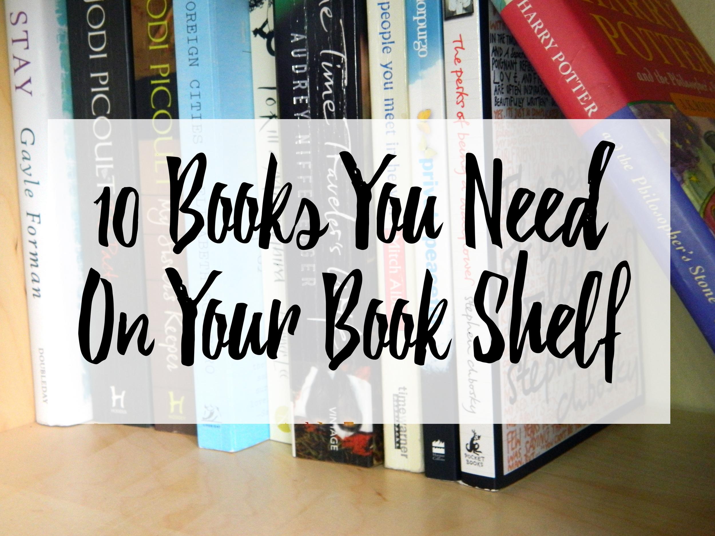 10 Books You Need On Your Book Shelf Promo Photo.