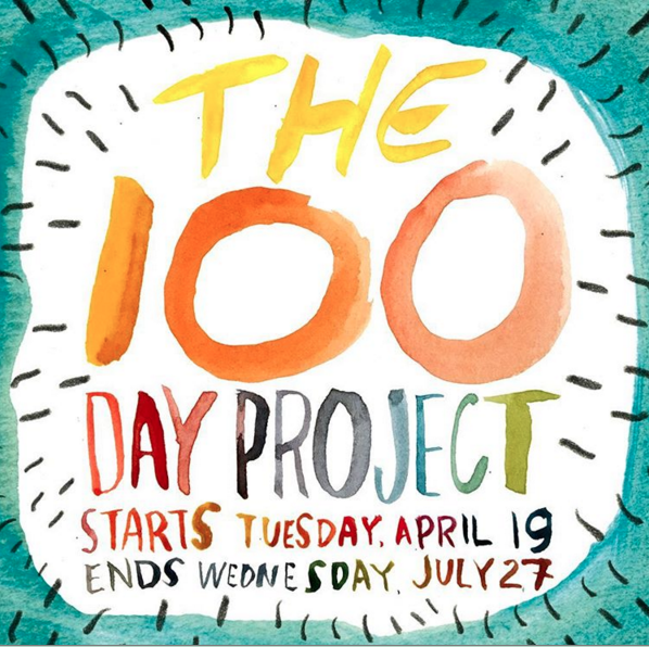 #The100DayProject Promo Photo: Source @elleluna on Instagram.