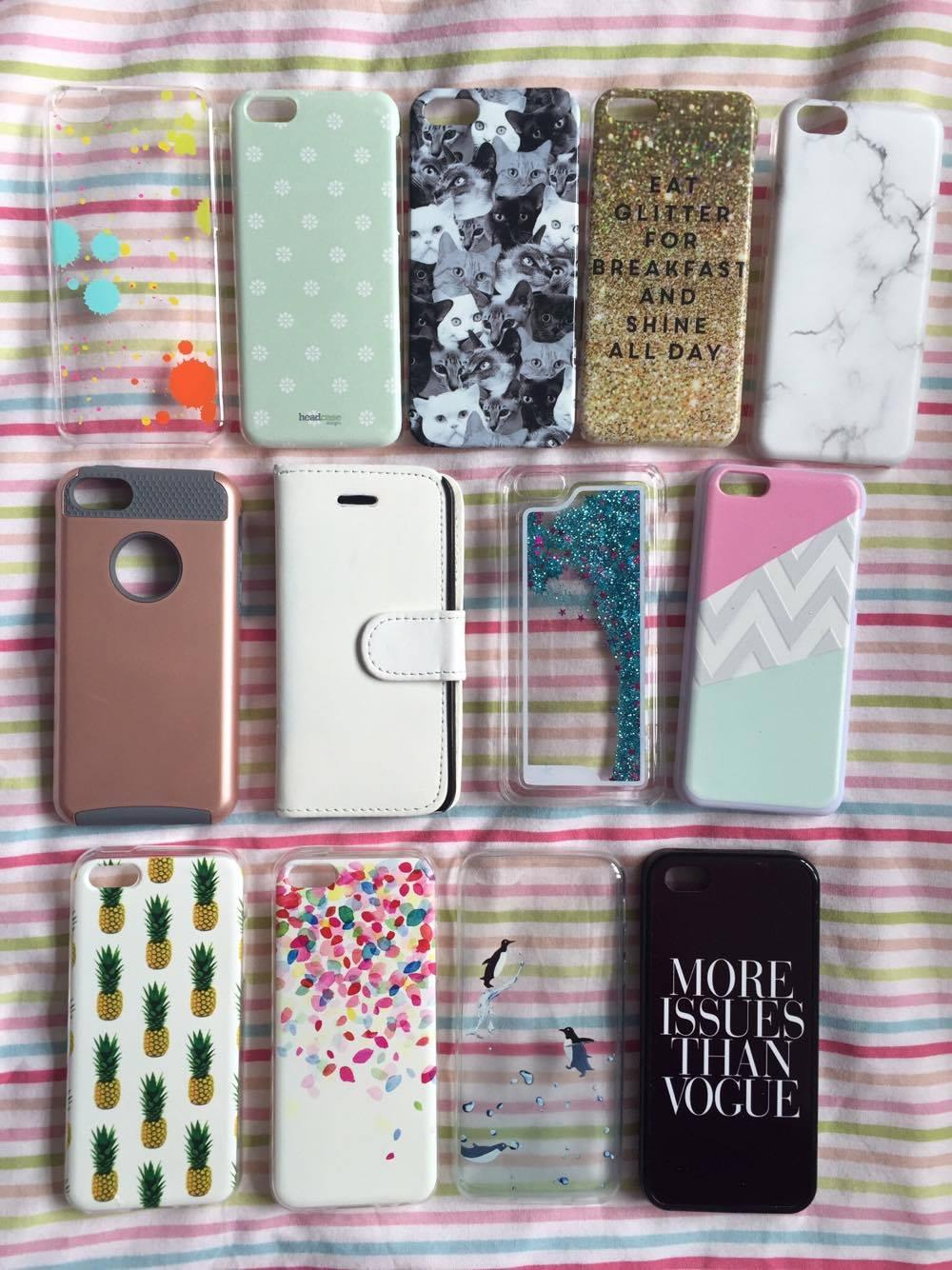 iPhone 5c case bundle for sale.