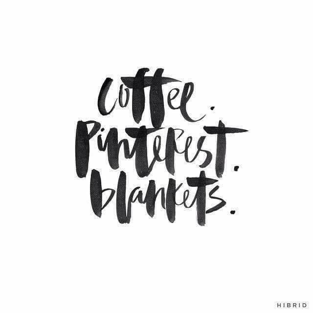 Coffee Pinterest Blankets quote.
