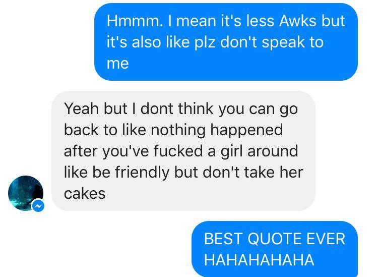 Screenshot of a Facebook Messenger conversation.