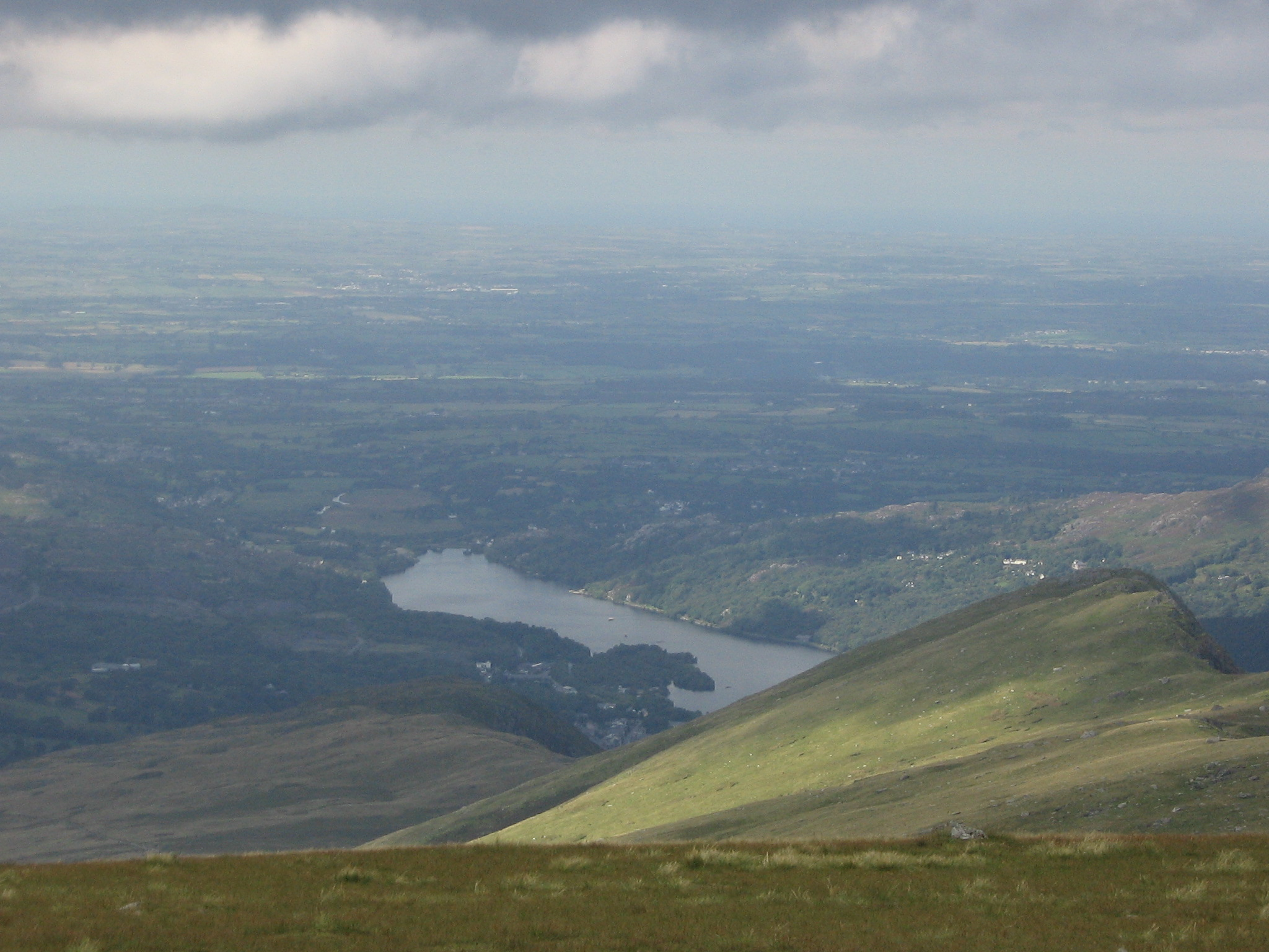 View from the top of Snowdon.