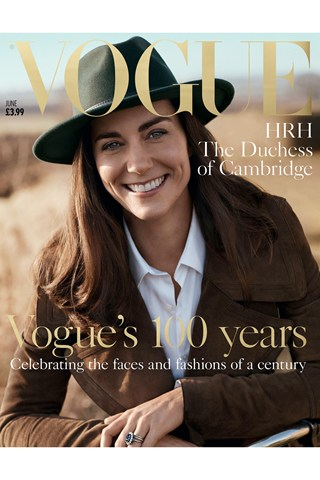 Kate Middleton, Duchess Of Cambridge on the cover of Vogue.