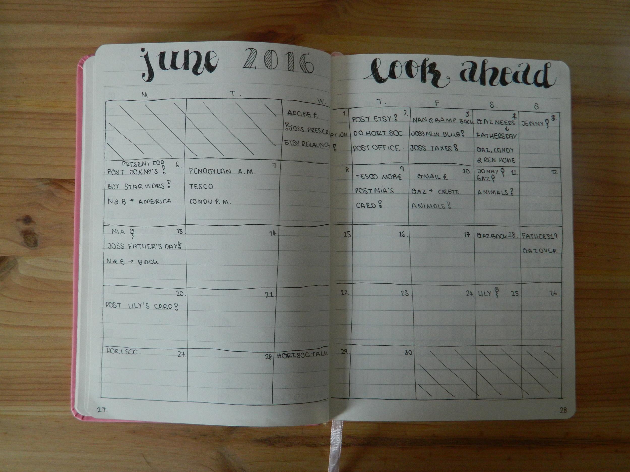 June look ahead.