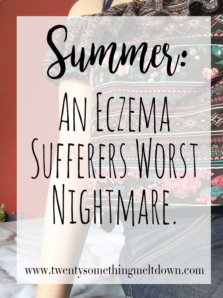 How to deal with flaring up eczema in the heat of summer.