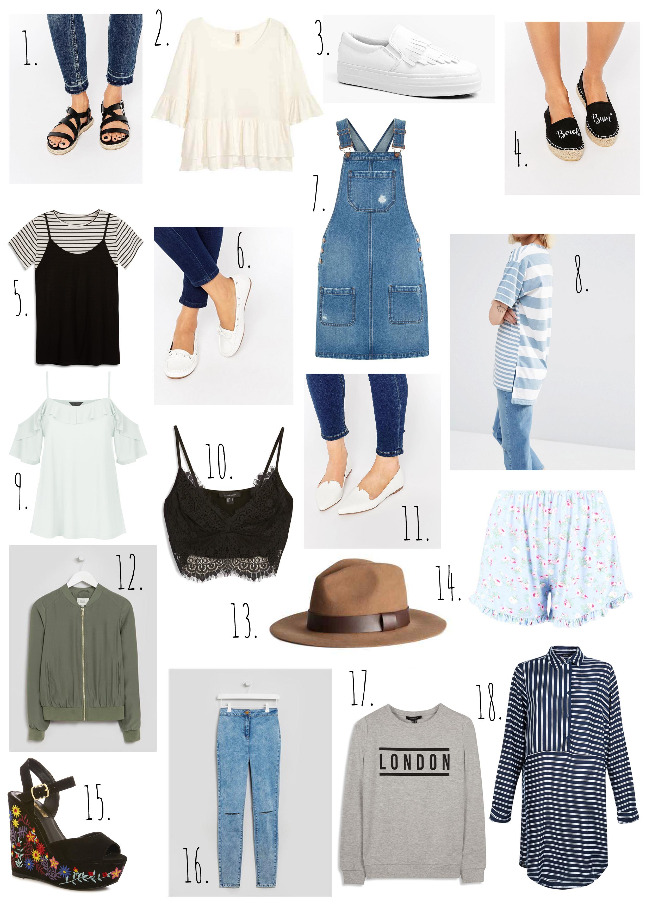 Summer Wardrobe High Street Wishlist.