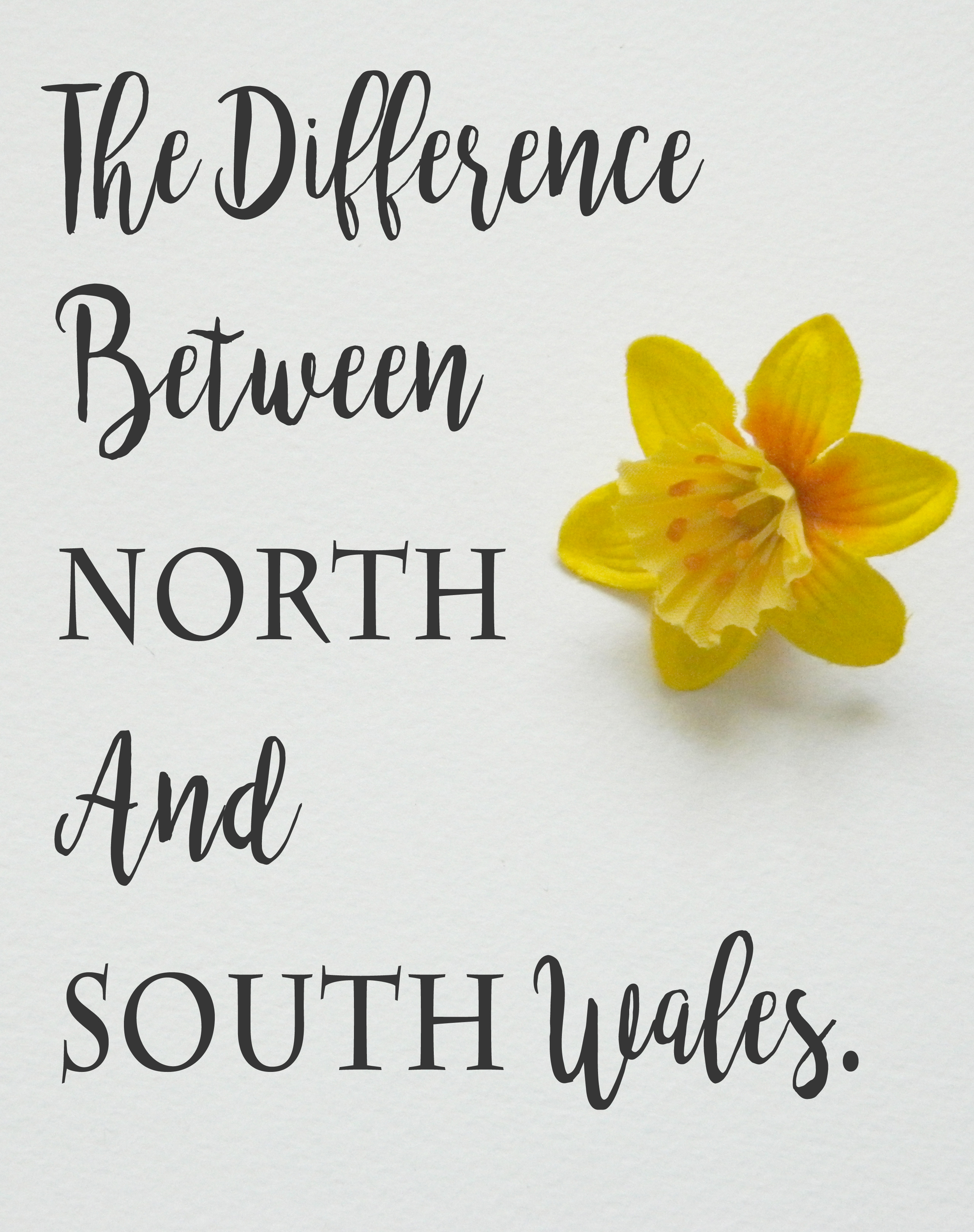 The difference between North & South Wales.