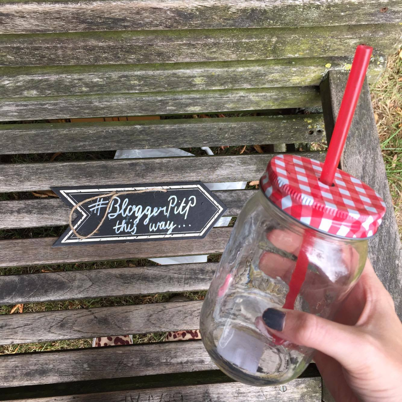 Each blogger was asked to bring a jam jar to drink from - Instagram worthy.