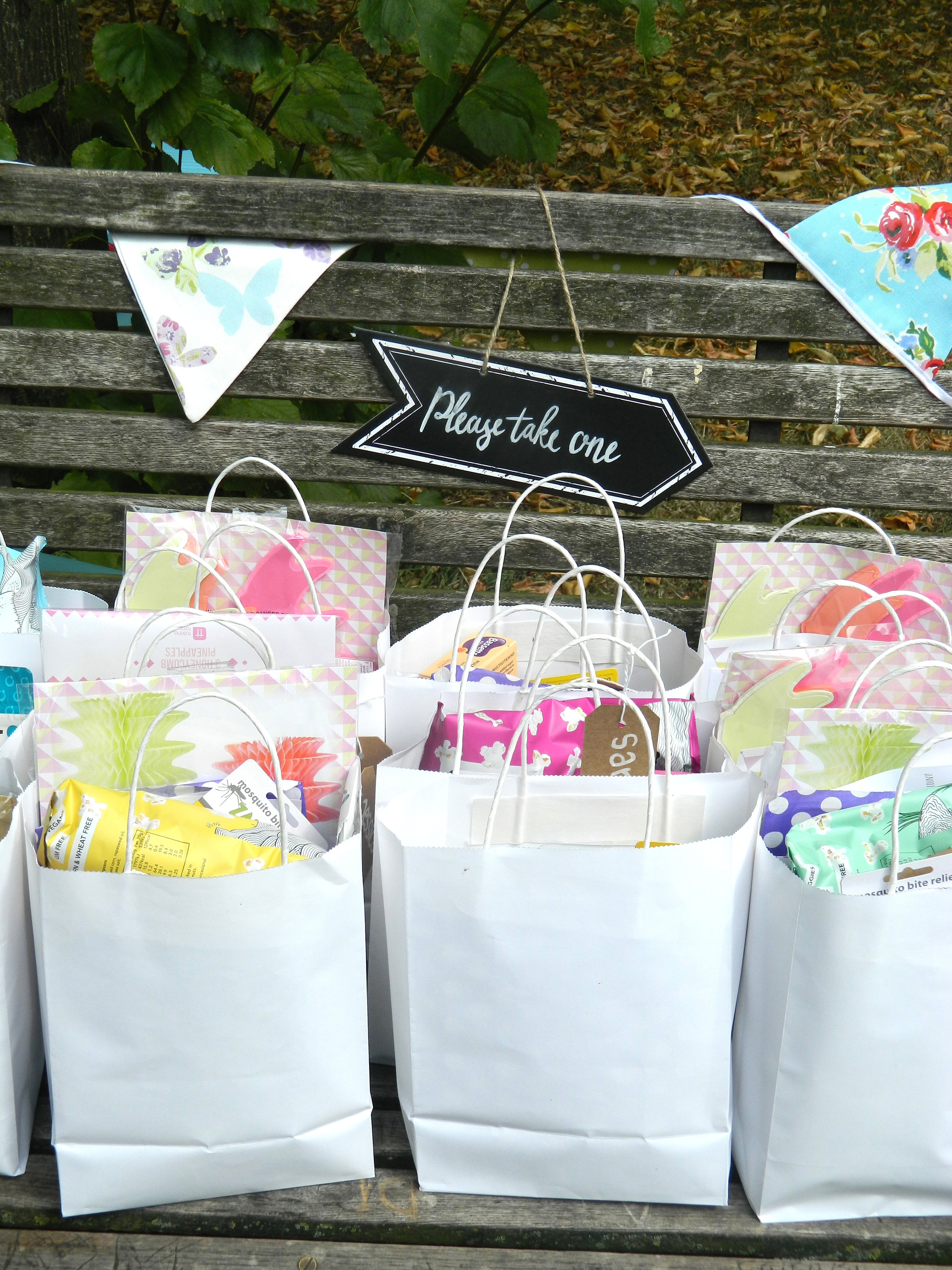 Just a small sample of the goody bags.