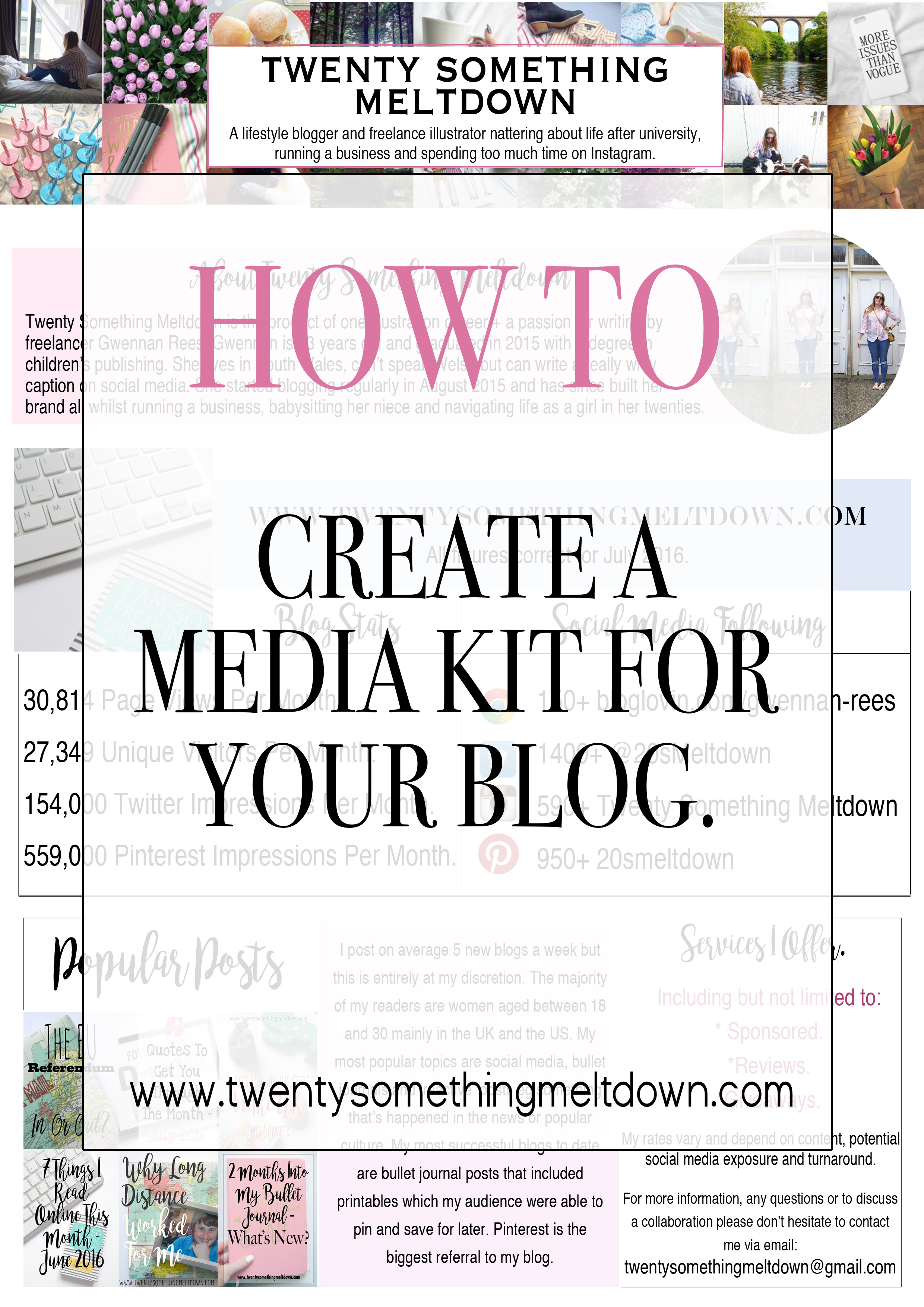 How To Create A Media Kit For Your Blog.