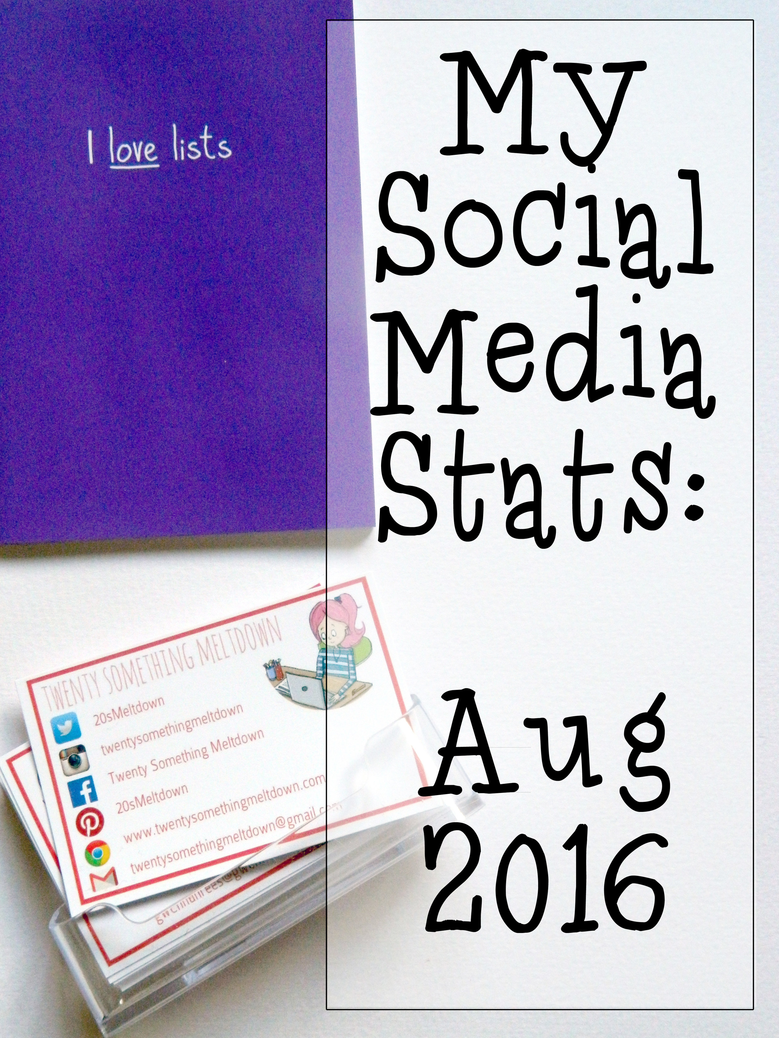 Social Media Stats - August 2016.