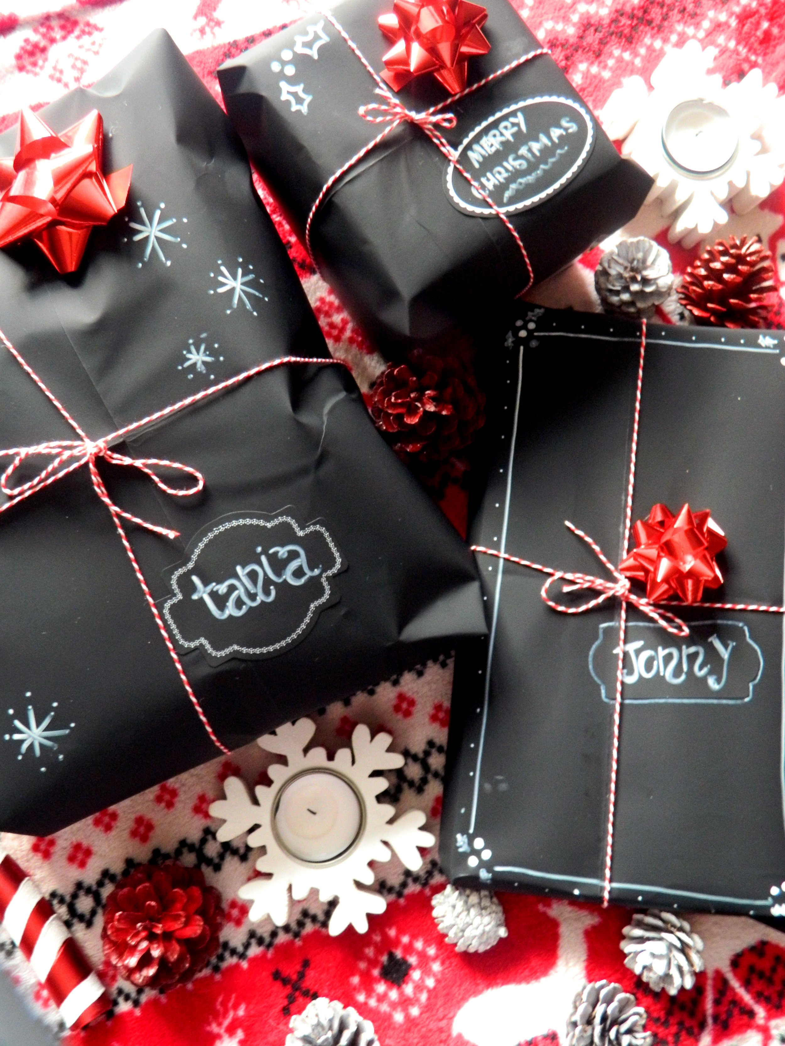 Pinterest Inspired DIY 001; Chalkboard Wrapping Paper.