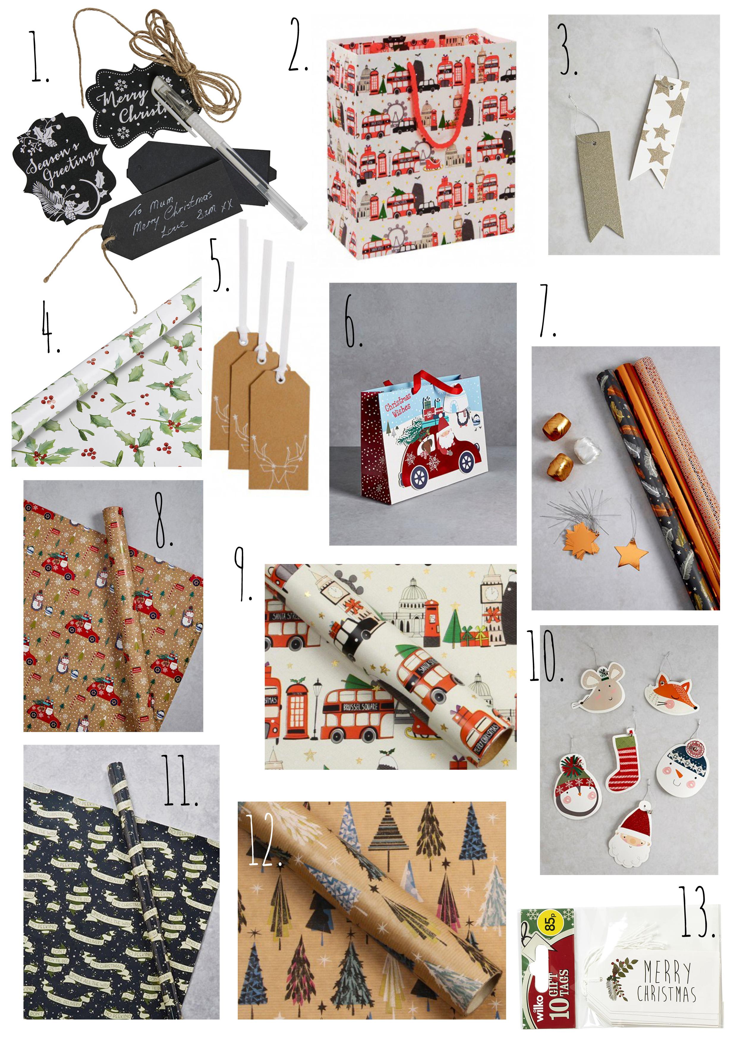 Gift Wrap & Accessories Wish List.