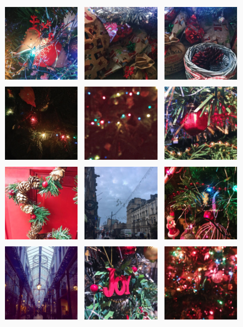 My festive little  Instagram  grid.