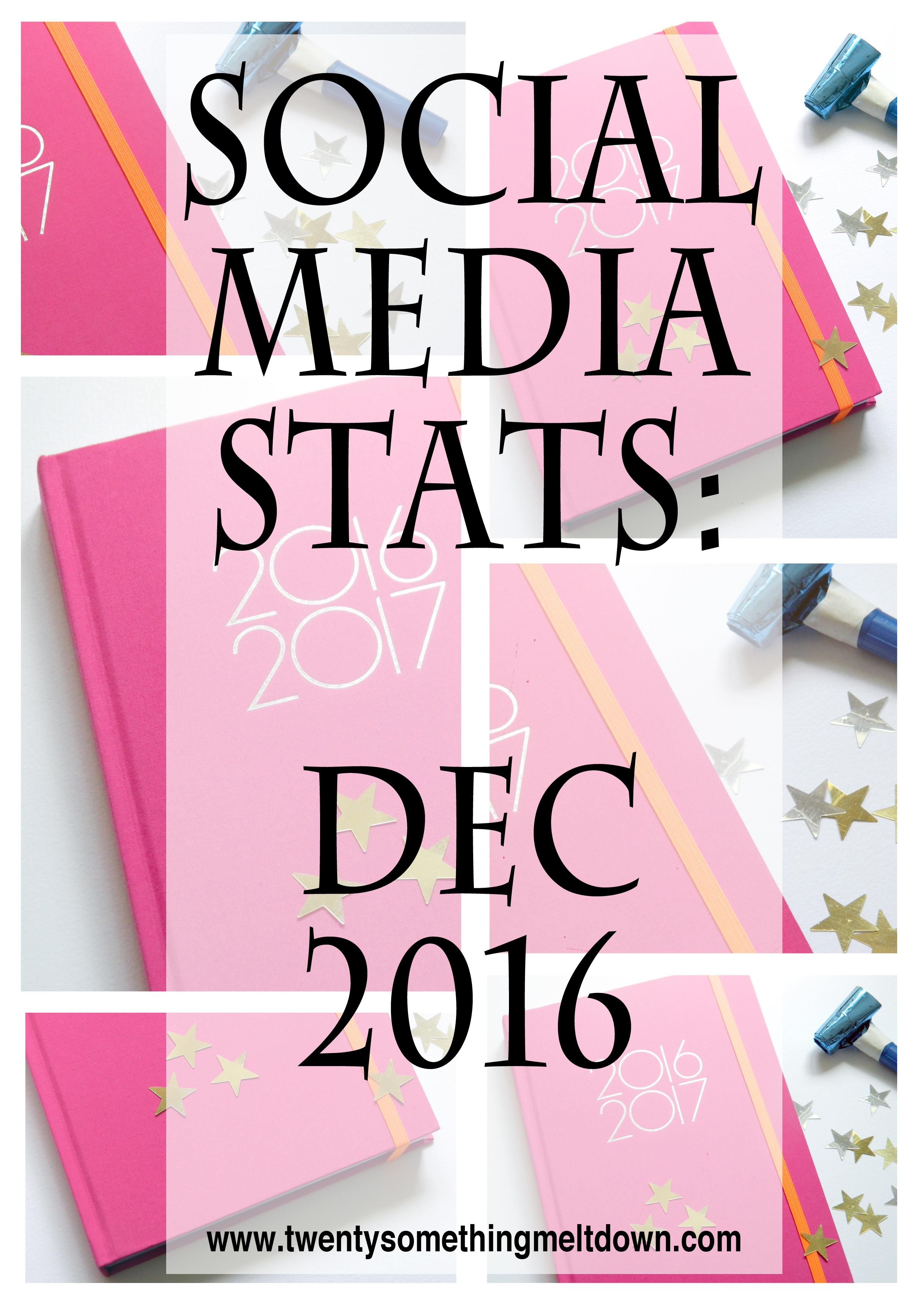 Social Media Stats; December 2016.