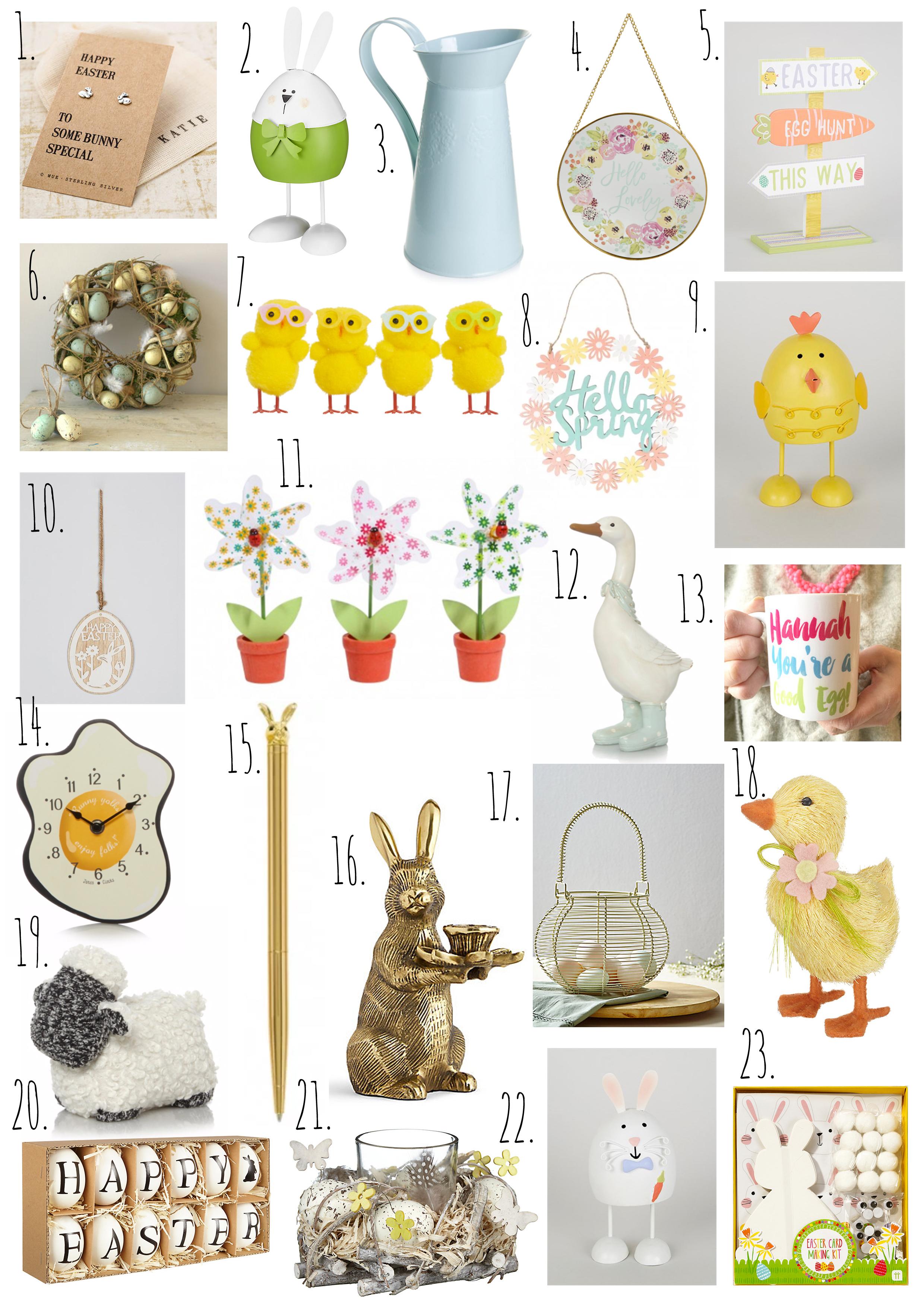 The alternative Easter egg gift list.