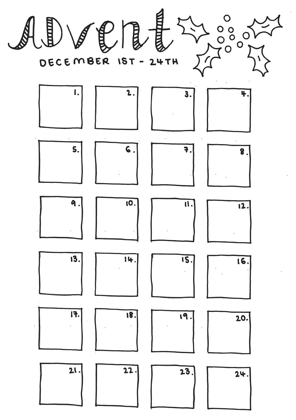 3 Free Bullet Journal Printables For Christmas Gwennan Rees