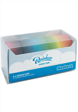 Mustard Rainbow Washi Tape