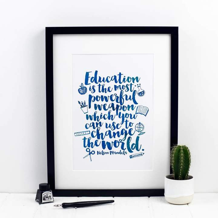 Education Quote Print