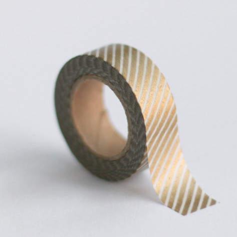 Gold stripe washi tape