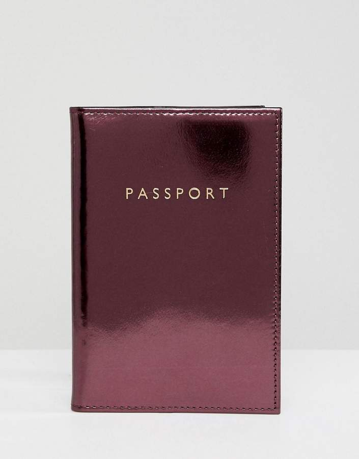 Metallic Passport Holder