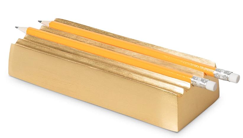 Brass pen holder