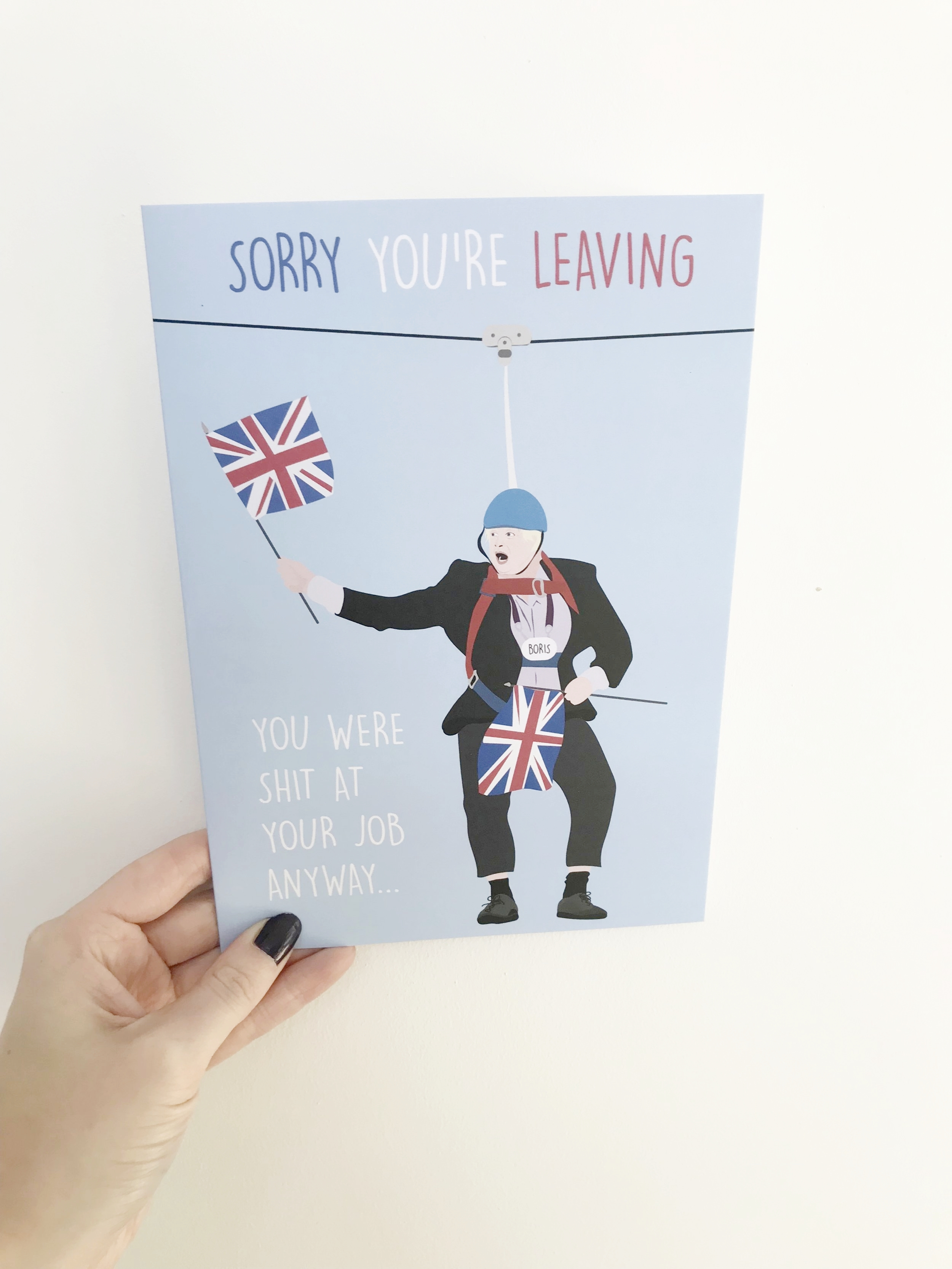 Buy the Boris card from Thortful here!