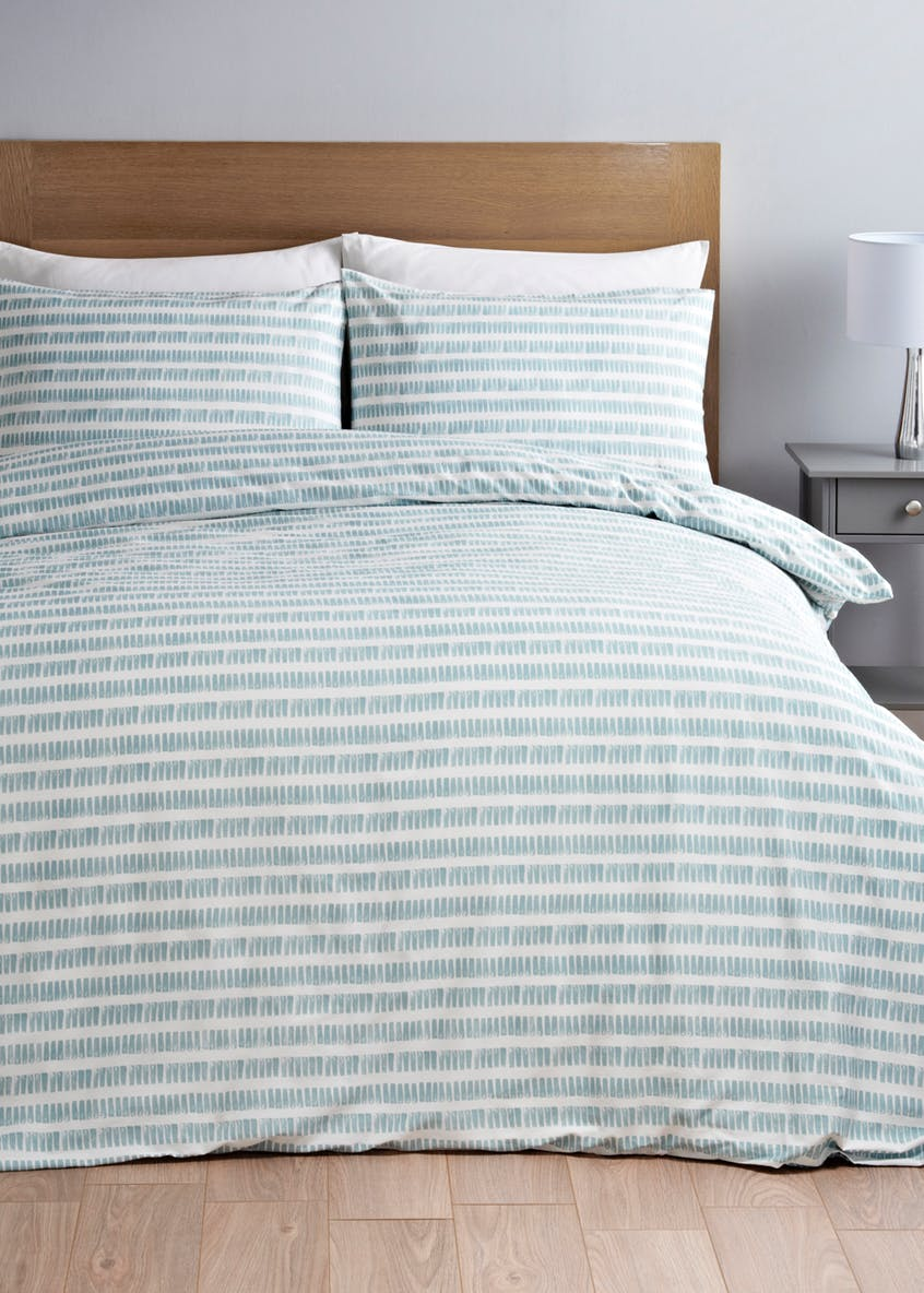 Reversible Stripe Duvet Cover - from £10 at Matalan