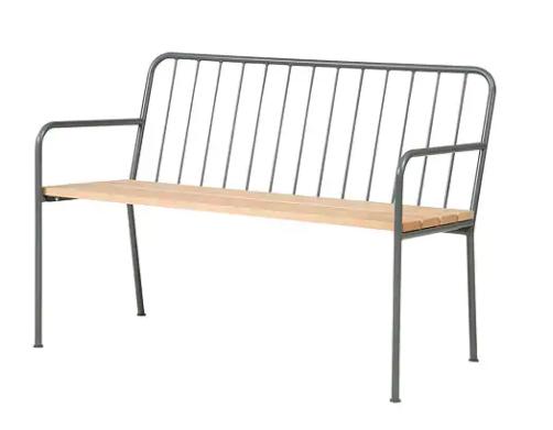 Metal & wood bench - £110 Ikea