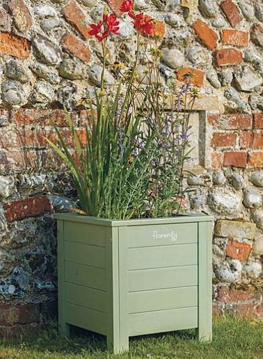 Green square planter - £69 Dunelm