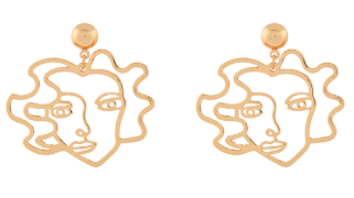Gold face earrings - £6 Accessorize