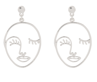 Silver face earrings - £6 Accessorize