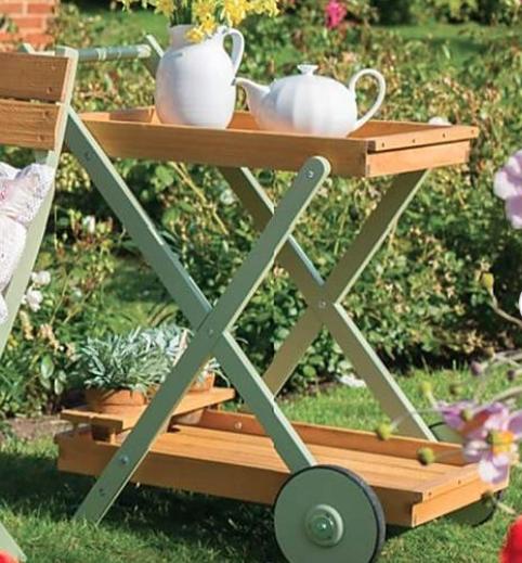 Tea tray on wheels - £100 at Dunelm