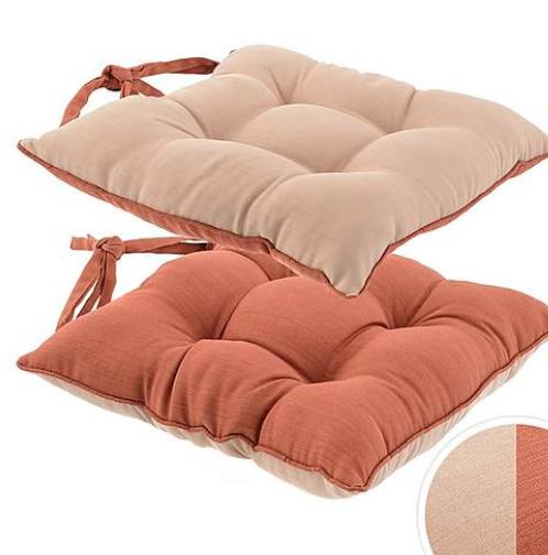 Terracotta reversible seat pad - £5.50 at Dunelm