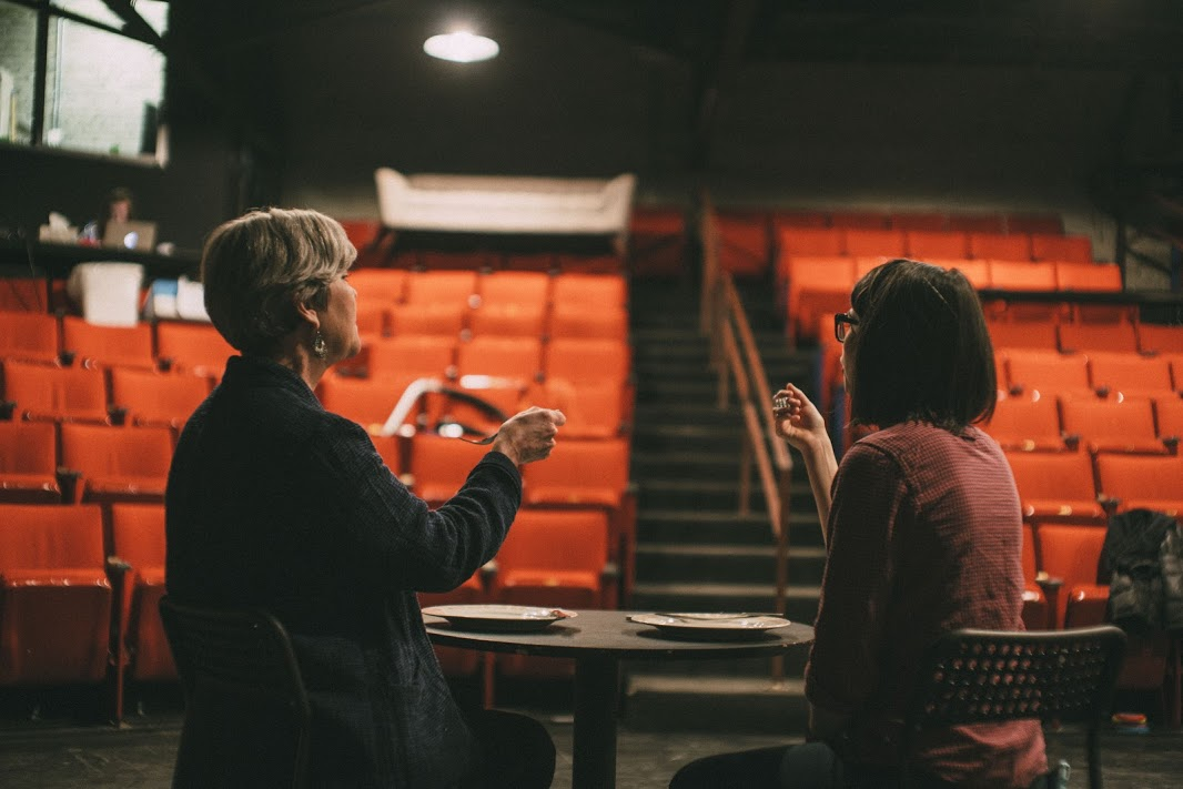 Rehearsal of With Love And A Major Organ, Boise Contemporary Theater.