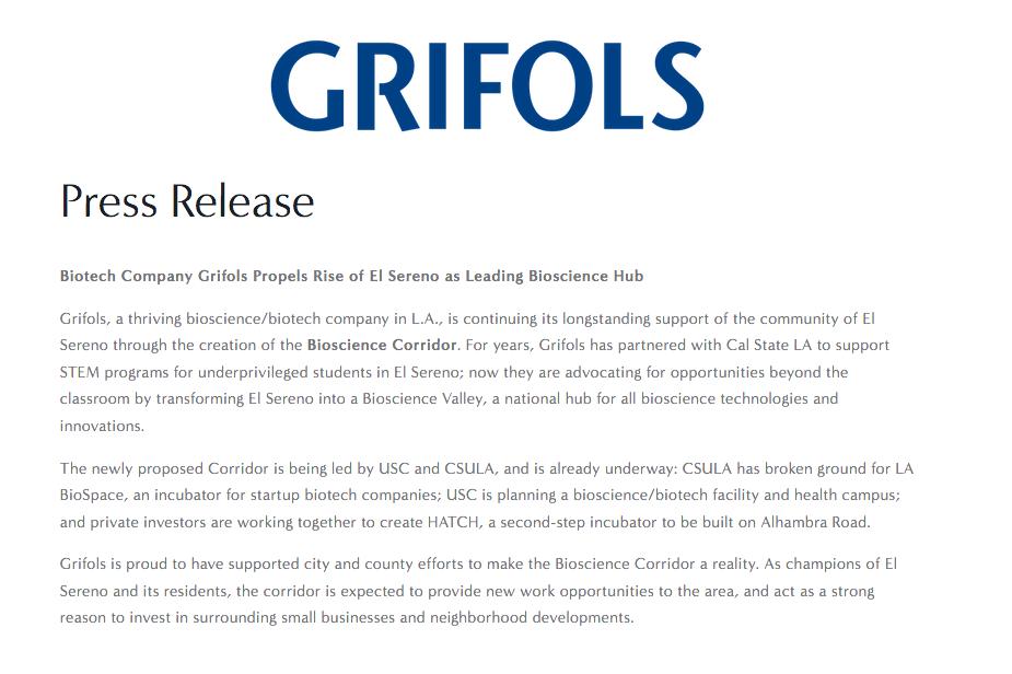 Press Release - Grifols