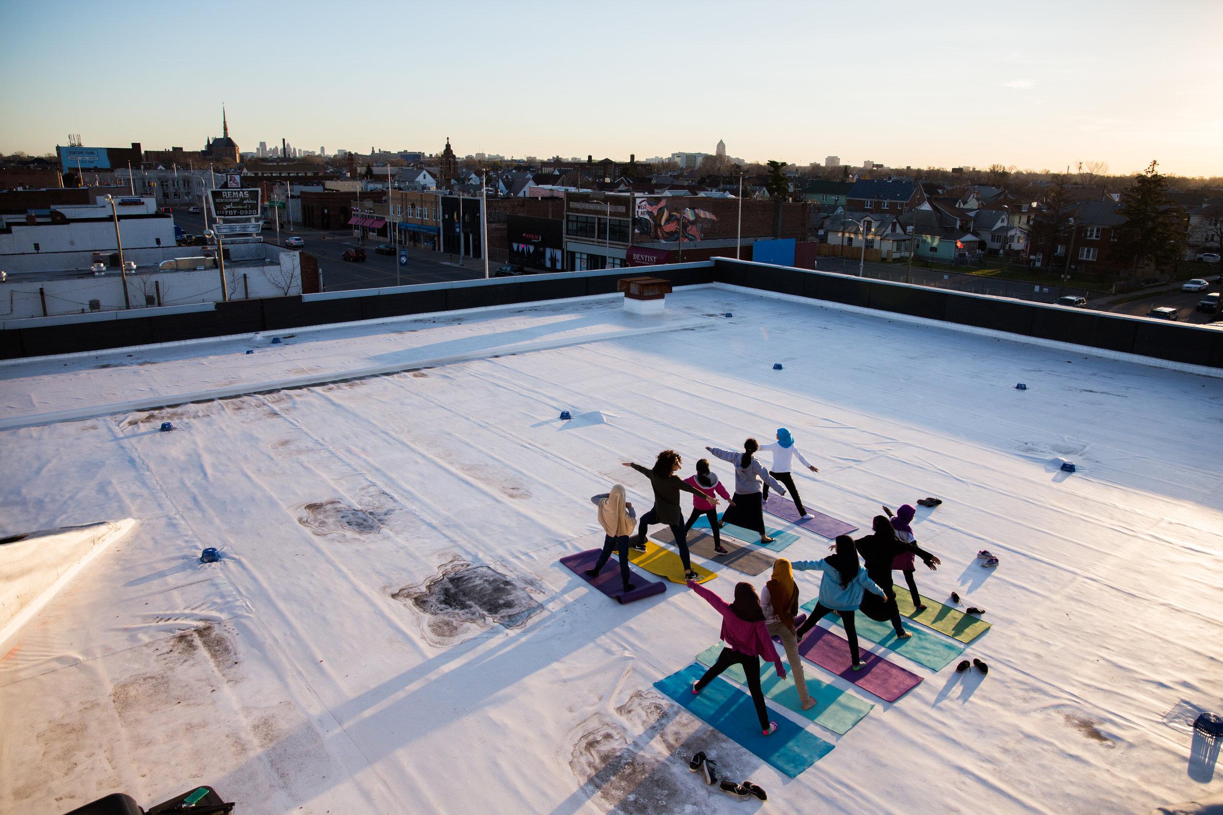 Yoga taught by holistic health coach  Jacklyn Renee .