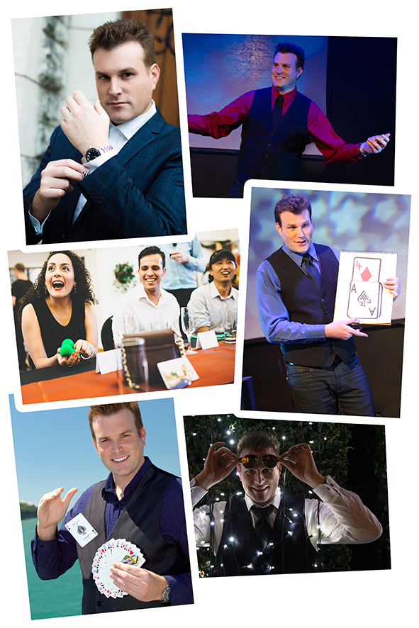 Auckland magician Mick Peck makes events memorable and fun! He is a full-time professional entertainer and award winning magician. Standup comedy magic act, strolling entertainment for functions, parties, weddings and more.