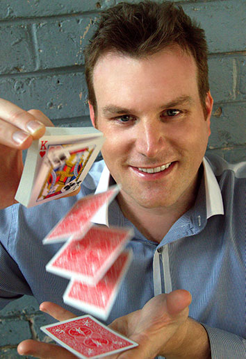 Mick Peck is a professional magician based in Auckland and and one of the most in-demand entertainers in the country. He presents magic shows throughout New Zealand for corporate events, home parties and more.